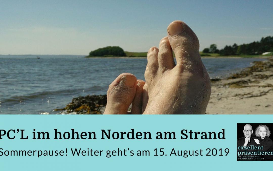 PC'L im hohen Norden am Strand - Sommerpause!